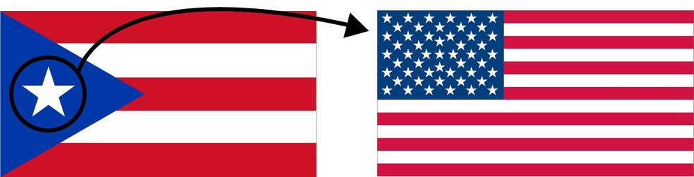 An american flag with fifty-one stars