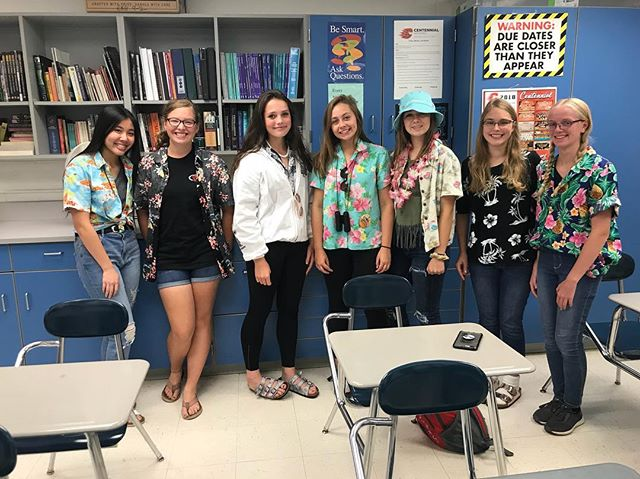 Tacky Tourist Takeover🤠🌎 #cougarnationnews #tackytourist #tacky #hawaiian #spirit #spiritweek