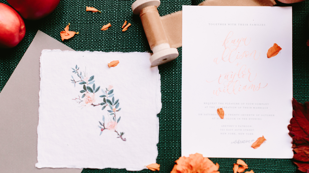 cozy fall watercolors & calligraphy