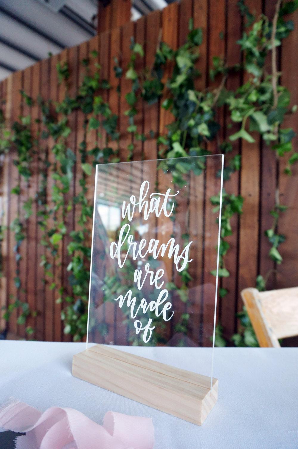 acrylic calligraphy sign
