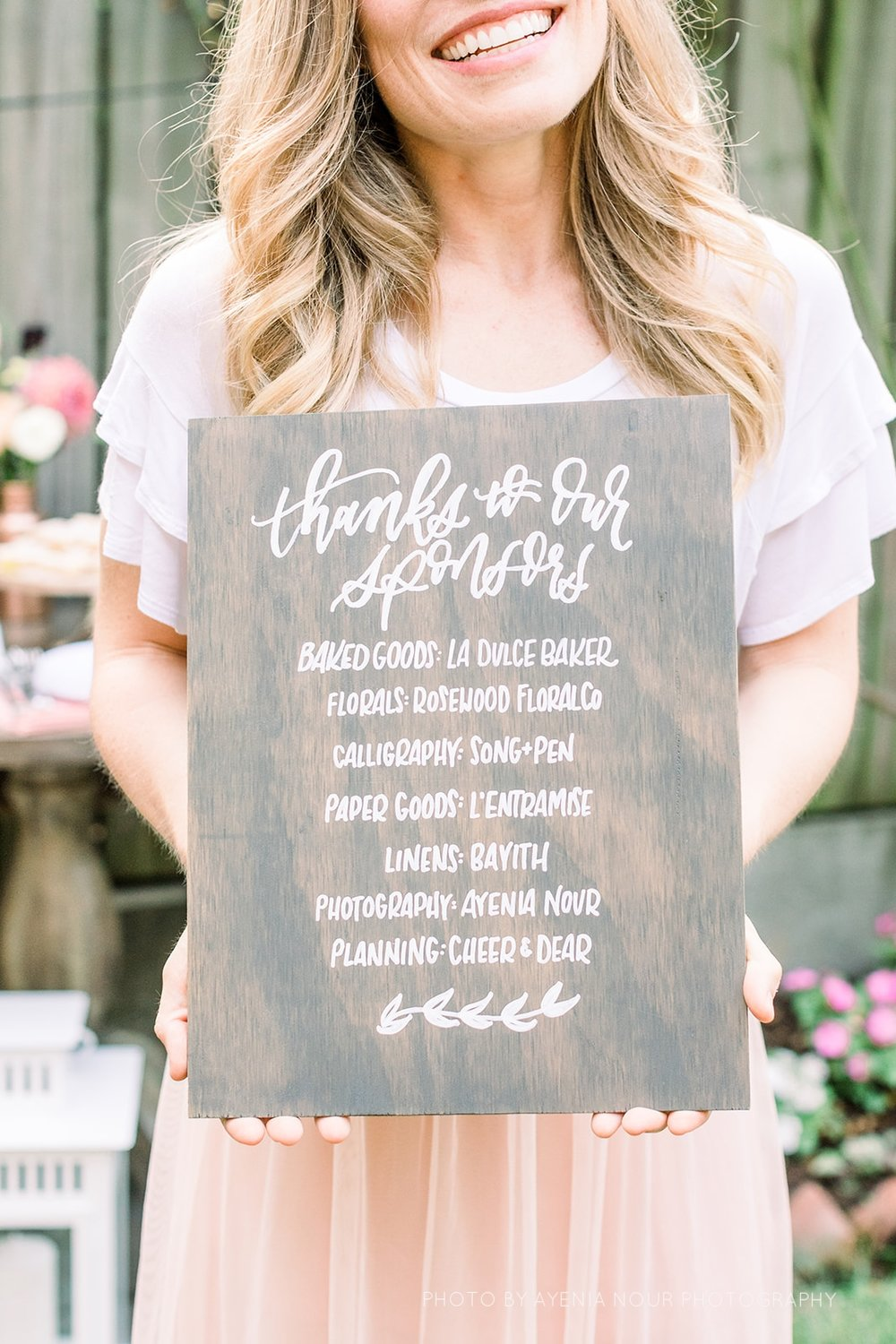 rustic stained wood wedding sign