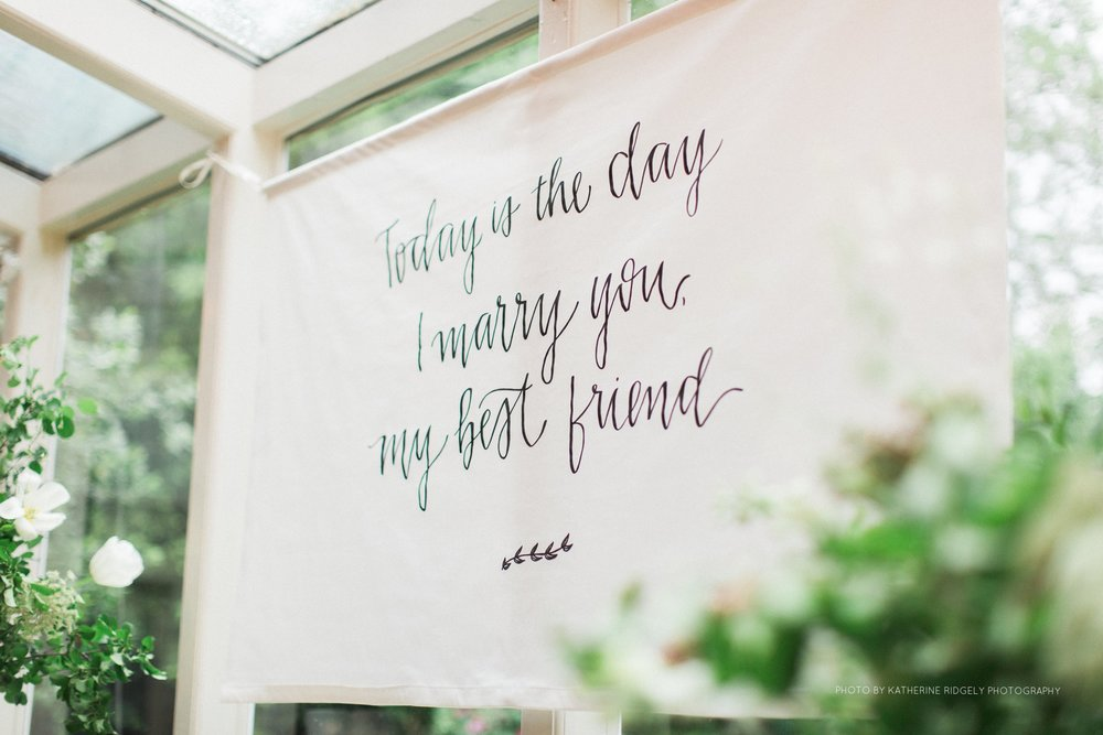 calligraphy fabric banner