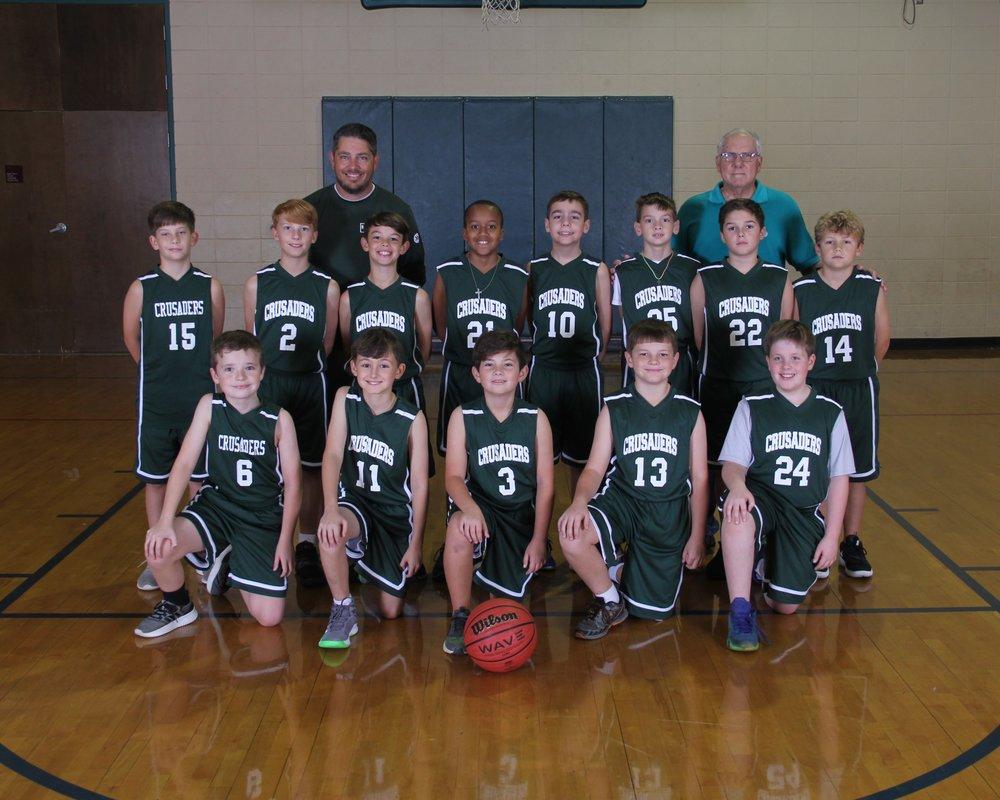 2018 5th Grade Boys Basketball Team