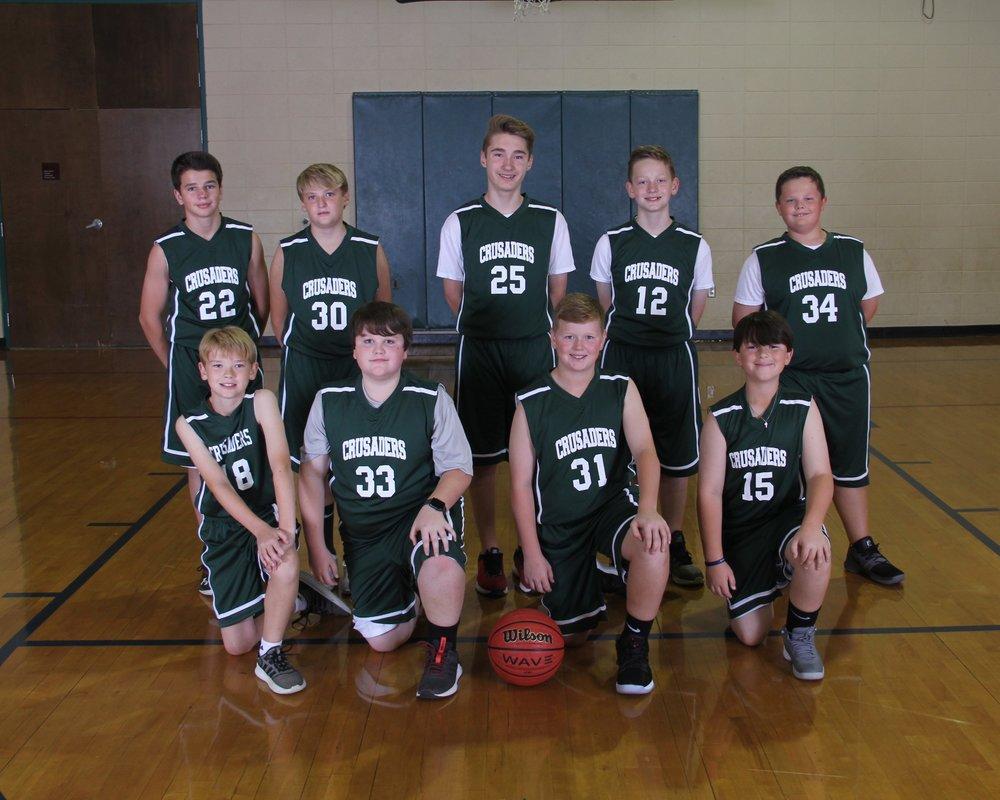 2018 6th Grade Boys Basketball Team
