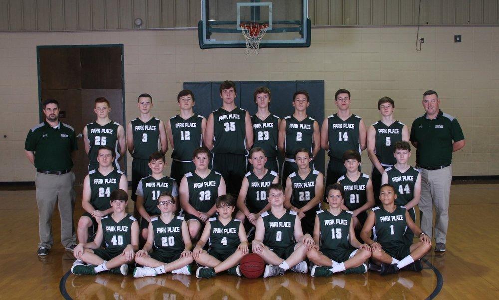 2018 JV Boys Basketball Team