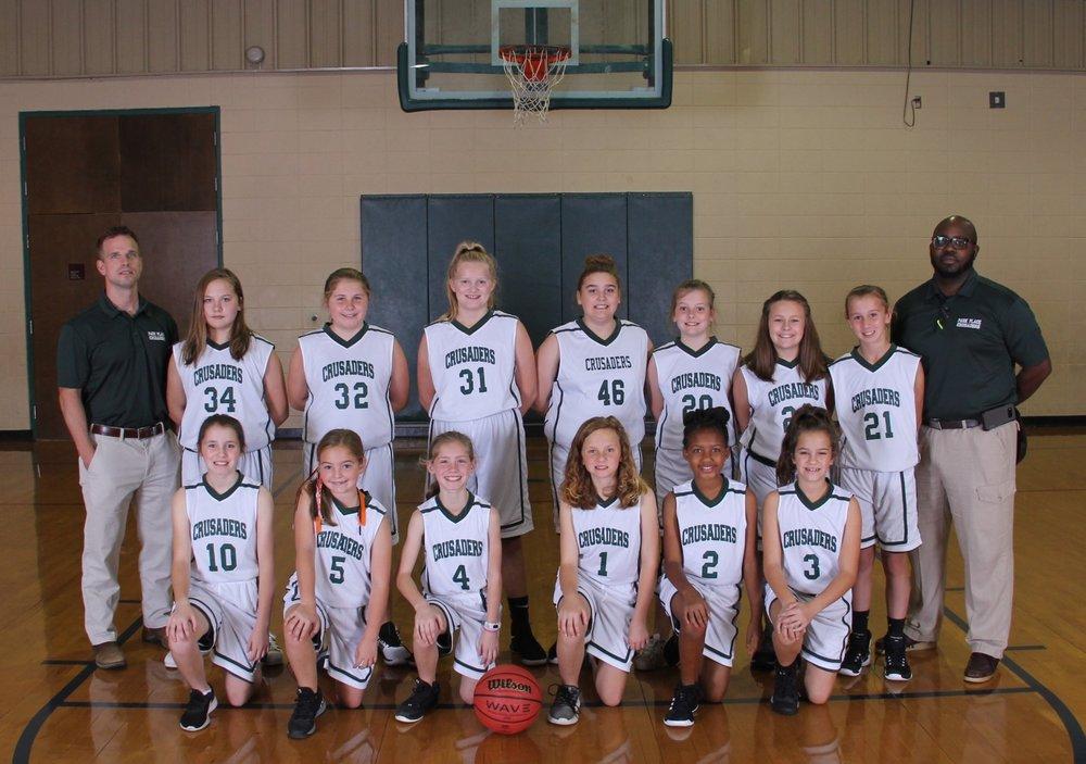 2018 5th Grade Girls Basketball Team