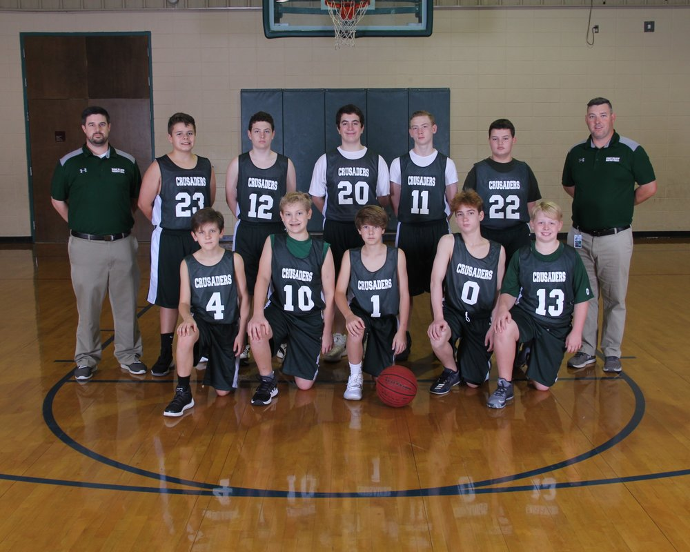 2018 7th Grade Boys Basketball Team