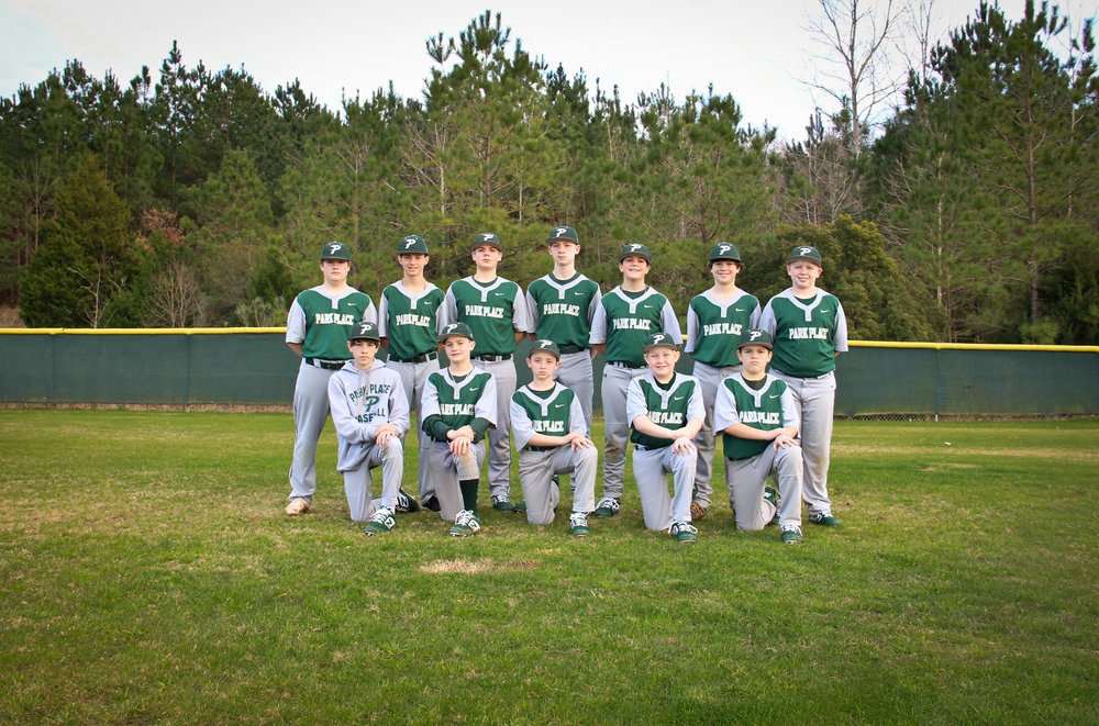 2019 7th/8th Grade Baseball Team