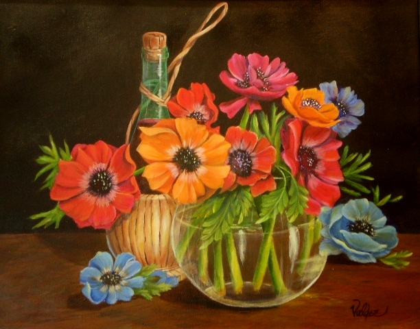 Anemones & Wine