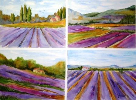 Lavender Fields x 4