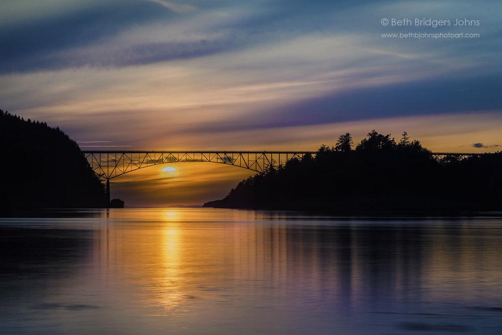 Deception Pass Bridge Sunset 3