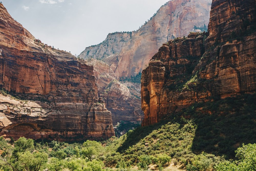Zion Canyon Walls