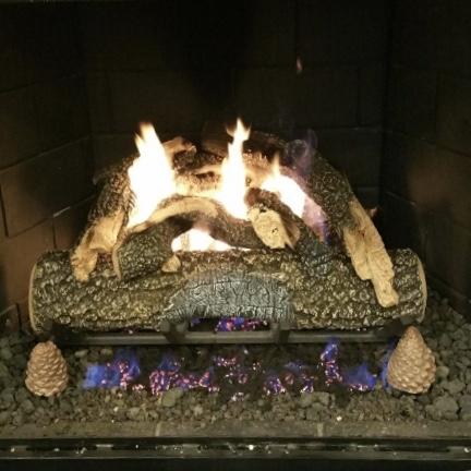 Golden Blount Gas Logs Yard Art Patio Fireplace