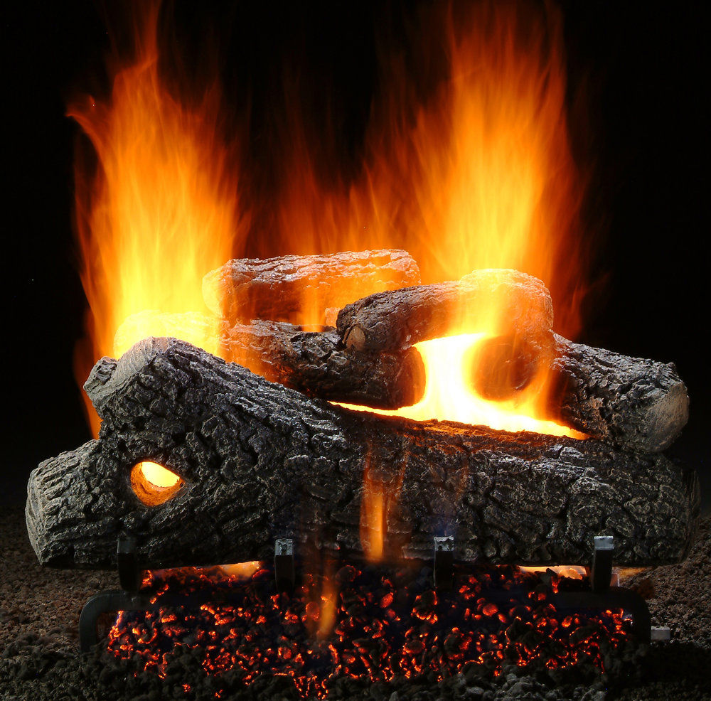 Classic Oak Ceramic Gas Logs
