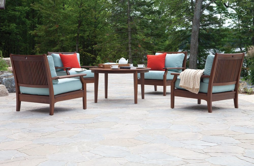 Opal cushioned lounge chairs w/opal chat table