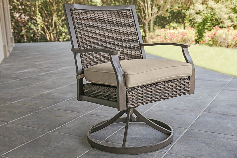 Trenton Swivel Dining Chair with Seat Cushion