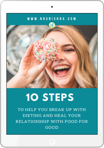 Break up with your diet and heal your relationship with food for good with the NourishRX 10 step guide!