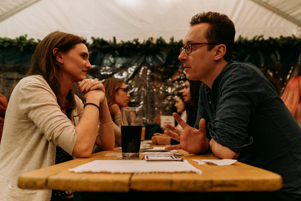 Genuine communication as a hallmark of Skip The Small Talk helps participants get to know each other and feel more comfortable opening up right off the bat.