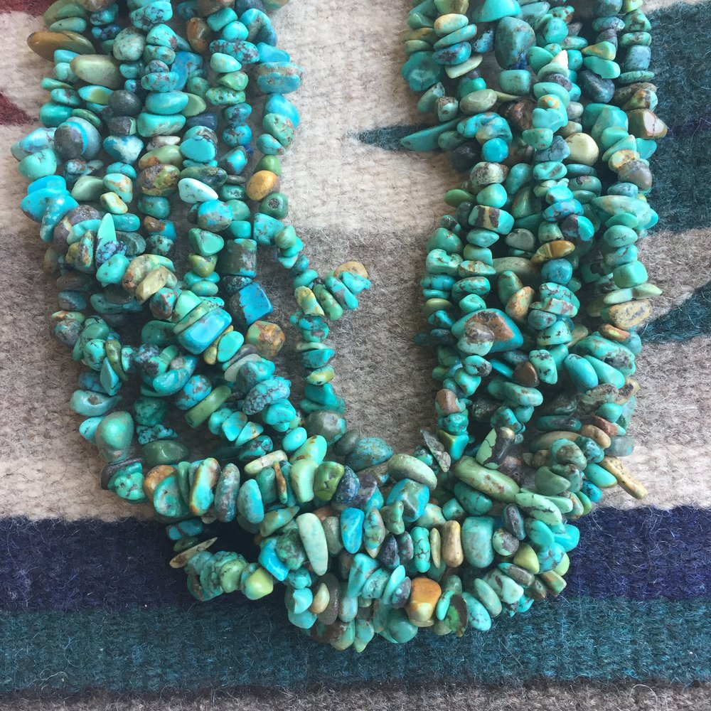 Navajo 7-Strand turquoise nugget necklace