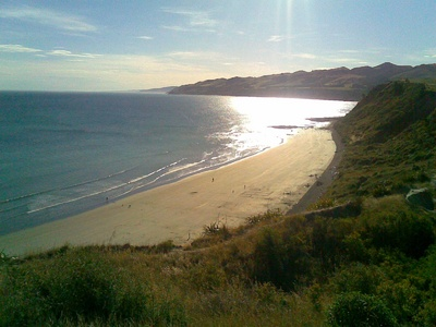 Beautiful Motunau beach and coastal reserve is a short drive away