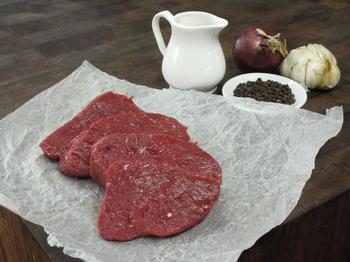 Venison Steaks, $56/kg or per 100 gram