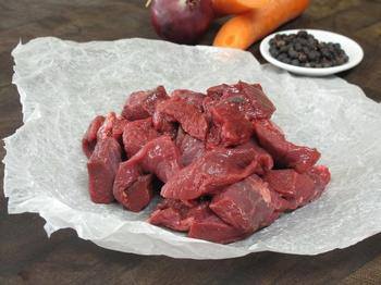 Diced Venison, $38/kg or per 100 gram