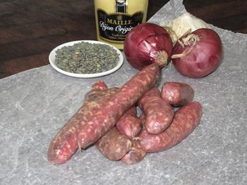 Thin-style Venison Sausages, gluten free, $24.50/kg or per 100 gram