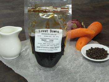 Lovat Downs Venison Sauce (Jus), 500ml $30 per packet
