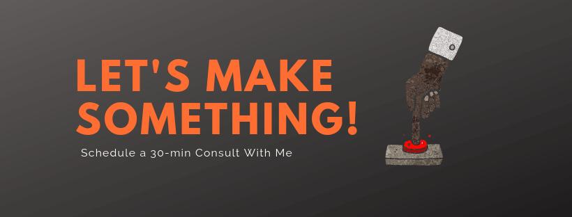 Let's make something button - website design.