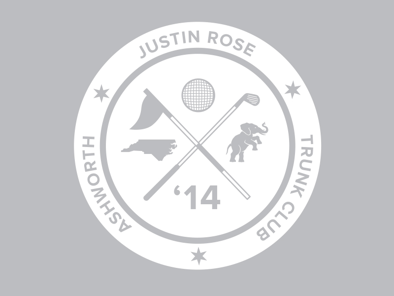 Justin Rose trunk logo