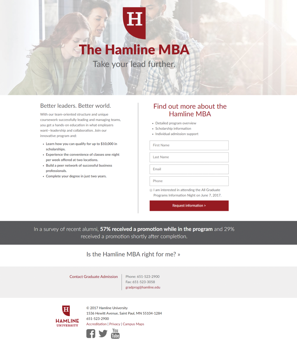 Hamline University Responsive Web Design Tony Gillen User