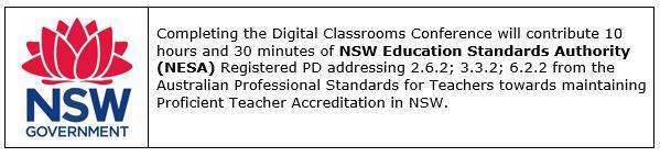 Digital Classrooms Conference - NSW Endorsement.JPG