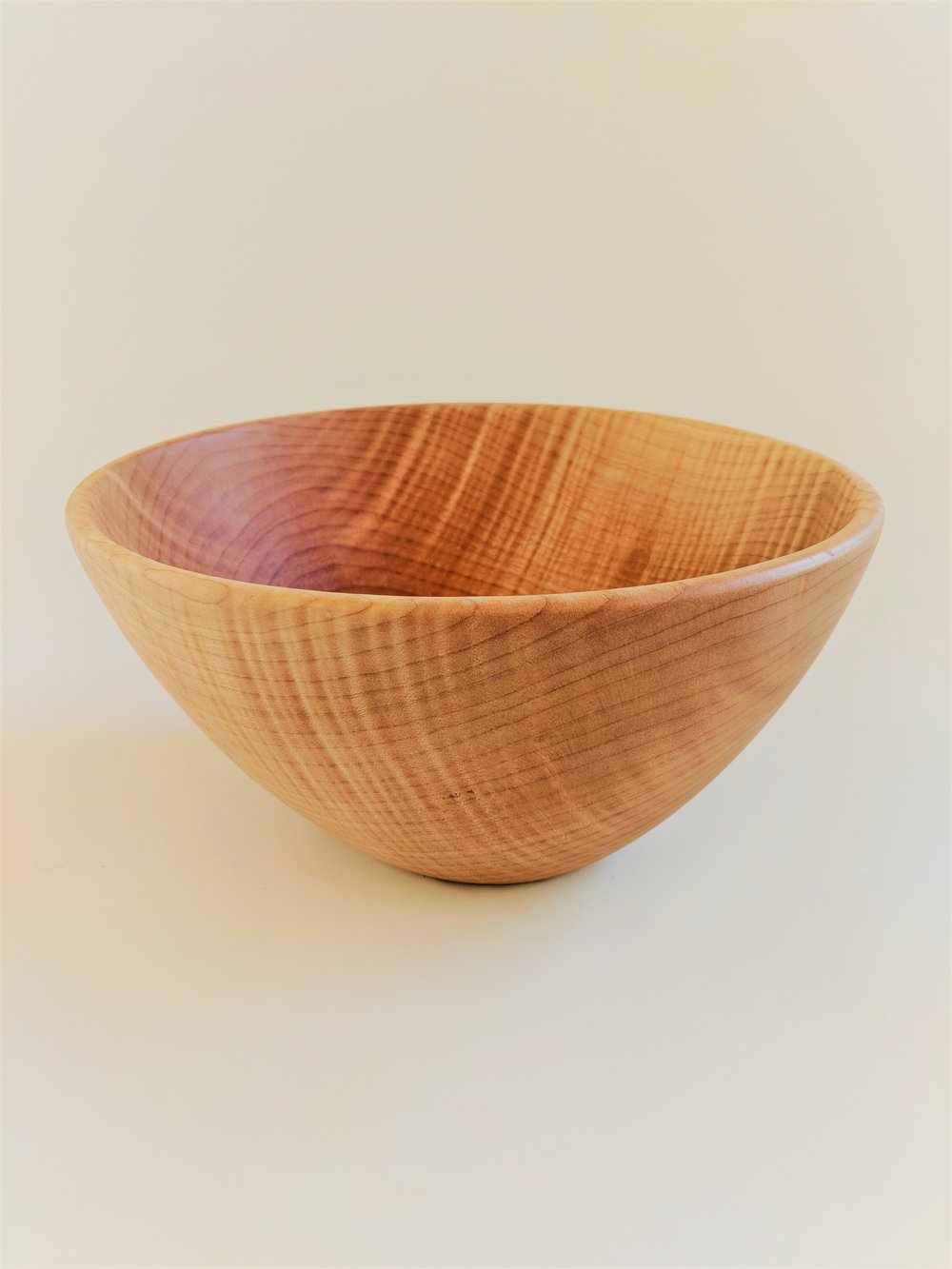 Figured maple salad bowl.  Photo: Pf Woodworking