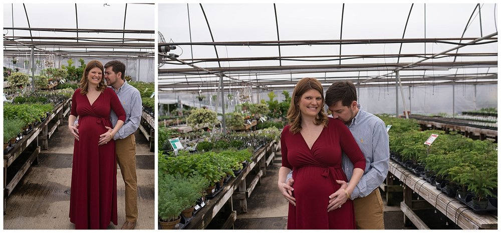 maternity greenhouse session