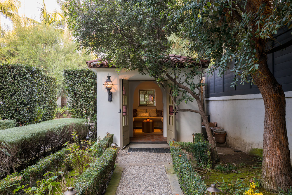 Offered at $13,498,000 - 6 BED | 7 BATHAPPR. 6,392 SQFT LIVABLE | 17,246 SQFT LOTPresenting the Chimorro House designed by renowned architect Roy Seldon Price with a 21st century restoration by the fame duo of Tichenor & Thorp. It boasts huge entertaining spaces include a masterful great room with exposed beamed ceilings, library and elegant dining room. The gourmet kitchen features a spacious butler's pantry and separate breakfast room. Bedrooms consist of a grand Master with seating area and luxurious bath, two guest bedroom suites with balconies, staff quarters with two bedrooms. The estate features a wine cellar and tasting room, lush gardens that encompass the property accompanied by a meditation room, and separate guest suite all overlook beautifully tiled fountains that provide tranquility throughout the home allowing your relaxation from a busy day.
