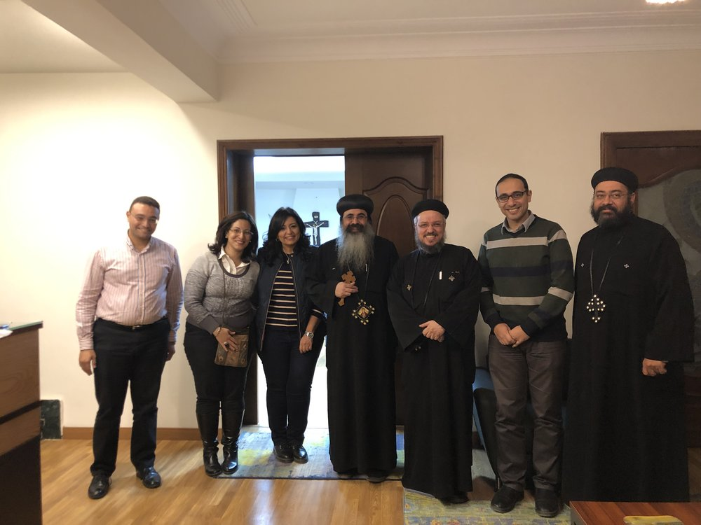 His Grace Bishop Kyrillos with the Egypt Cohort in November 2018