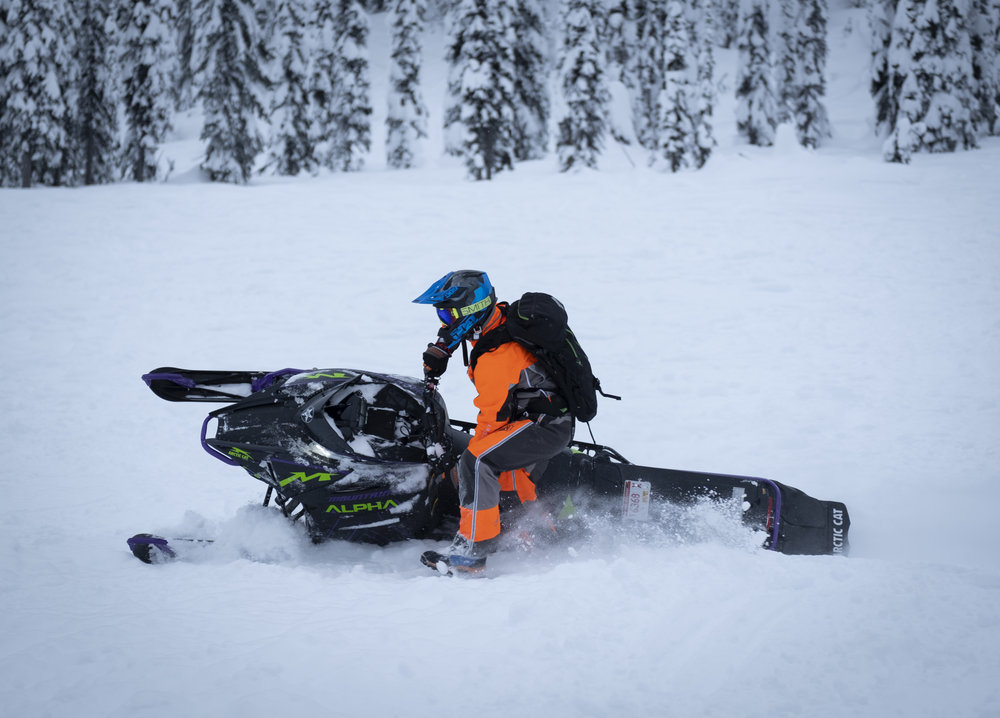 Craig on our Arctic Cat Alpha One