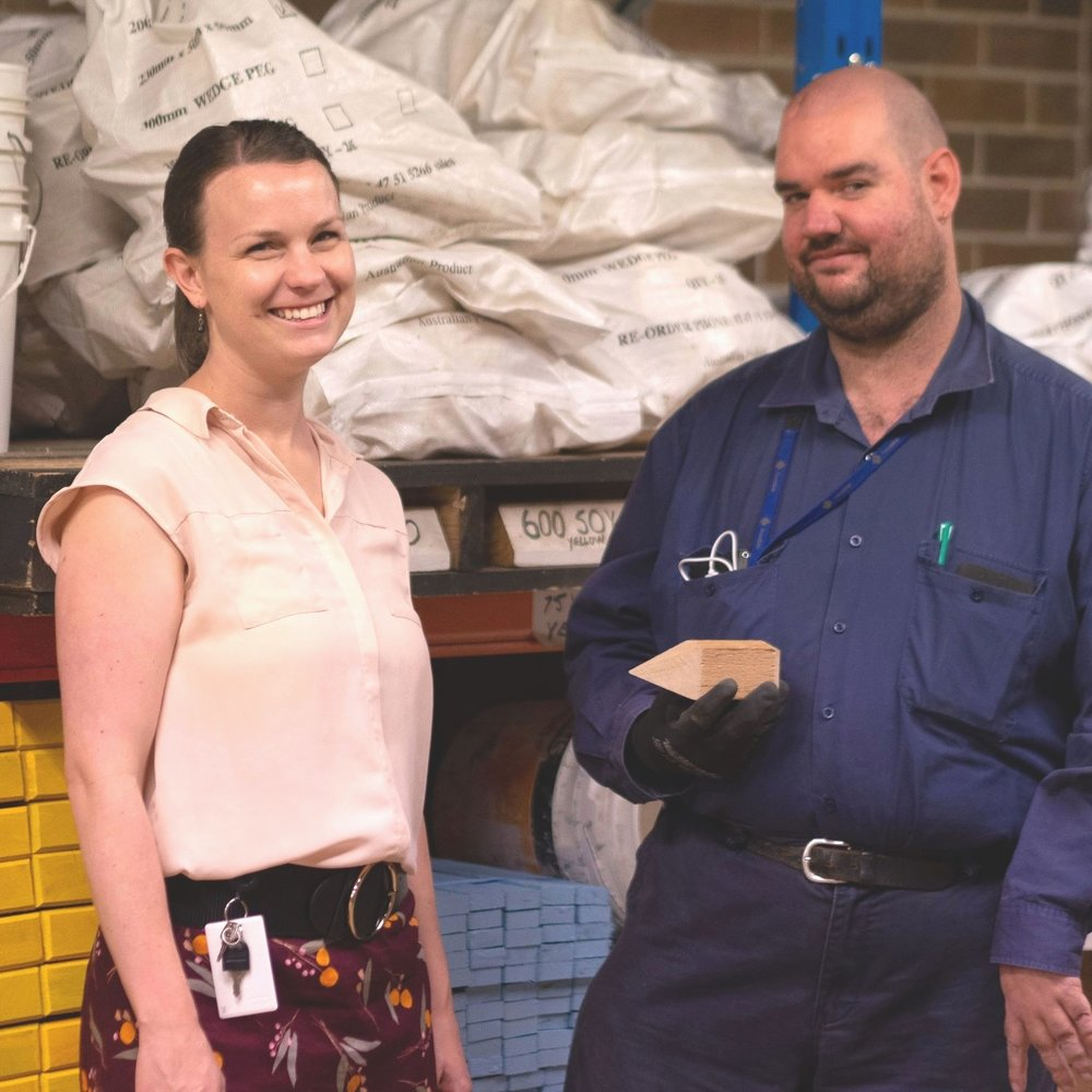 Picture of Dr Annie Brennan and a DARE Disability Support supported employment client.