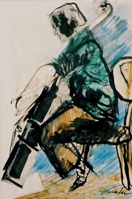 Cellist by Arthur Secunda