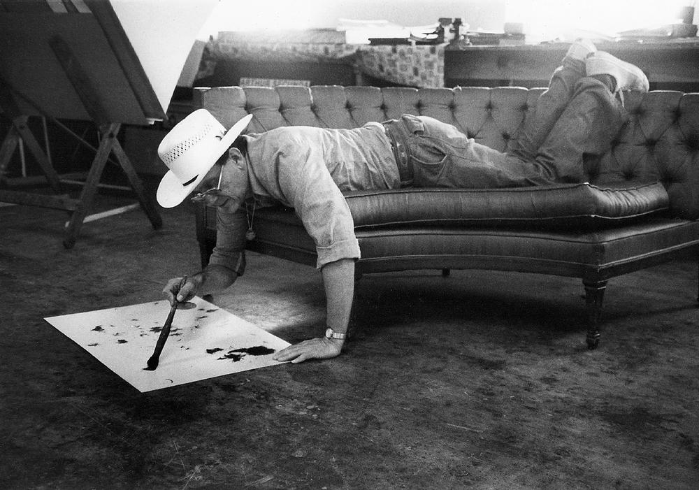 Arthur Secunda Paint on Couch