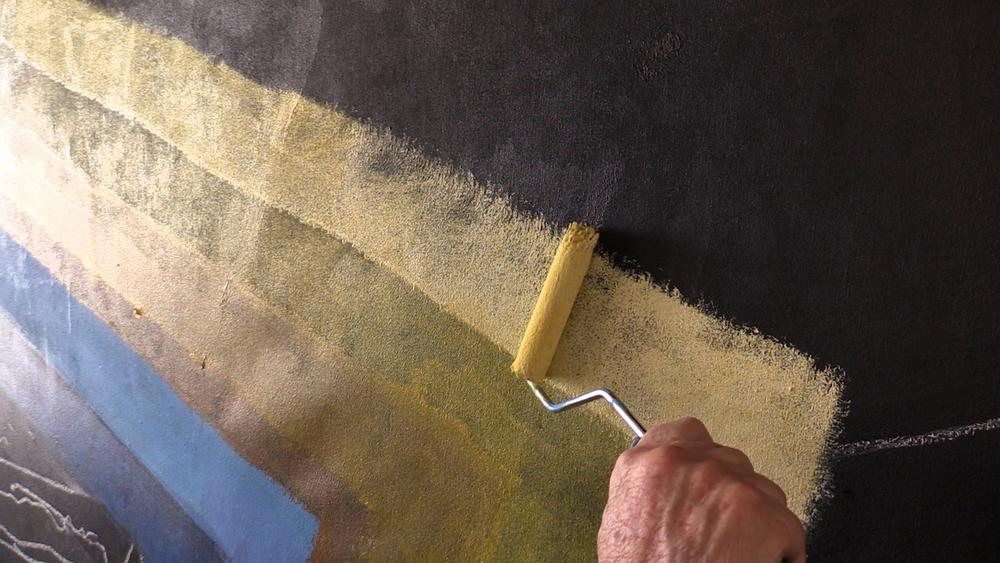 Arthur Secunda Paints with Roller