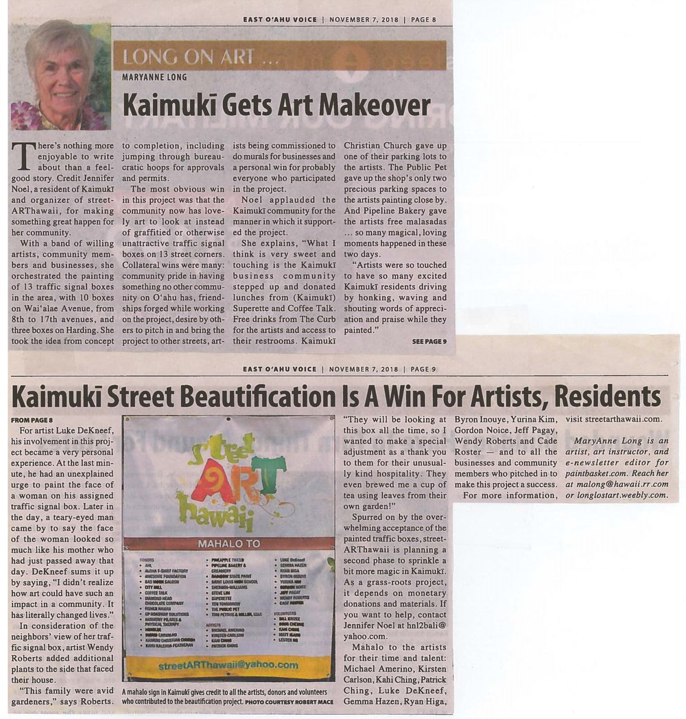 Kaimuki Gets Art Makeover