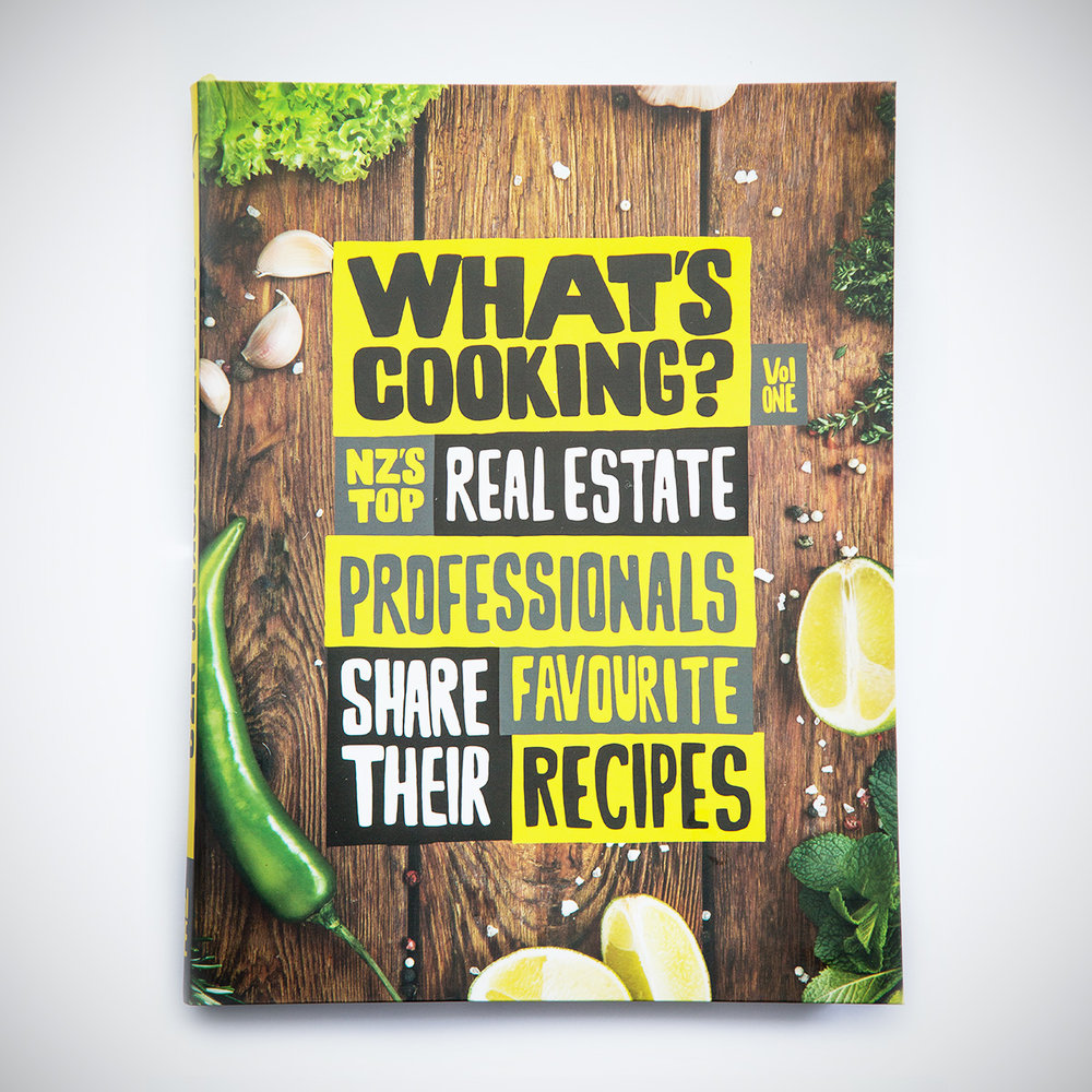 NZ's Top Real Estate Professionals - As part of our What's Cooking Business Directory series, we partnered with Raywhite agents to develop this cookbook featuring 50 of the top Real Estate agents from across New Zealand.(Published August 2017)