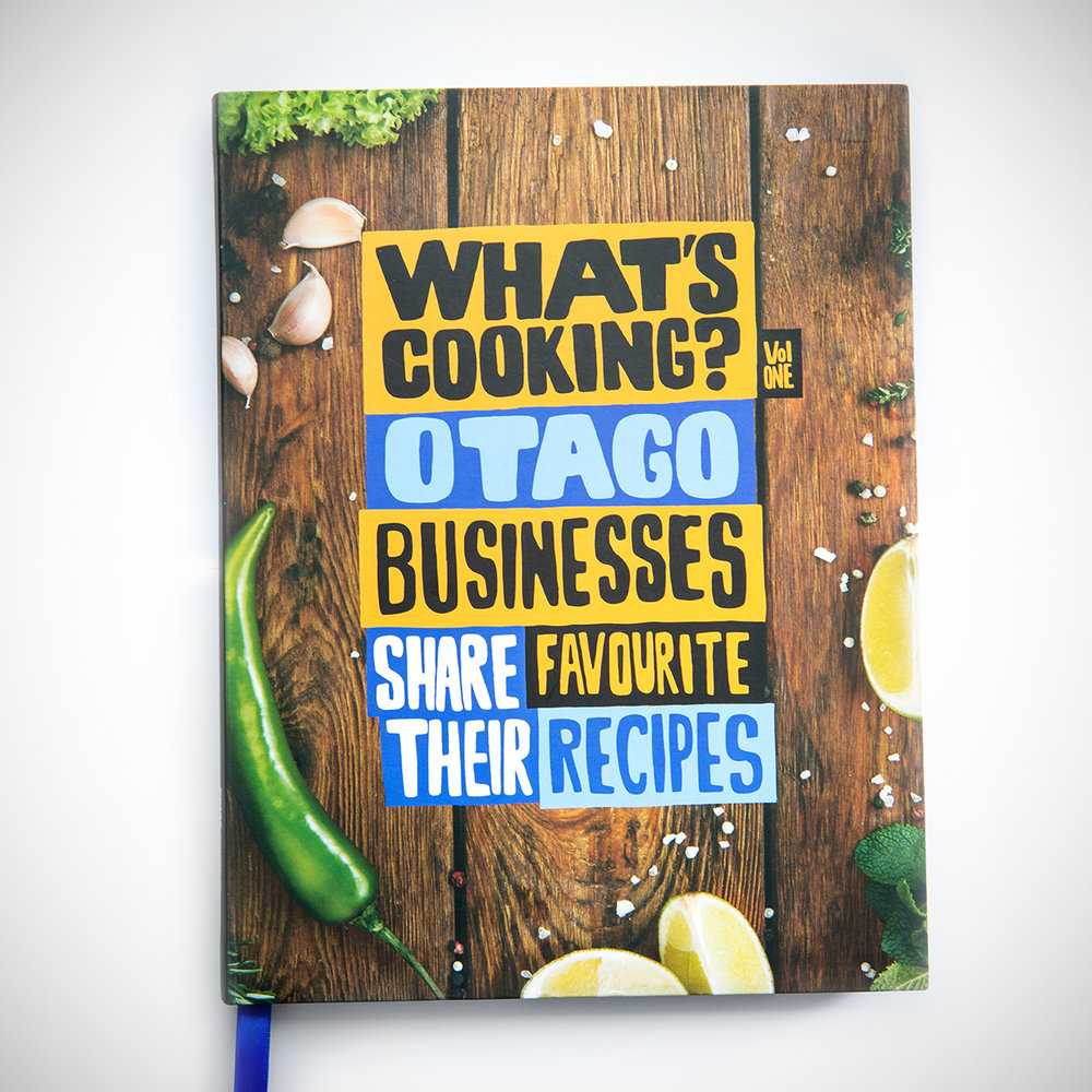 What's Cooking Otago - We invited 60 businesses from around Otago to showcase themselves with beautiful photography and their beloved recipes across 2 spreads. It has been a hit as client or special occasion gifts that has fuelled us to expand this concept to other regions.(Published August 2017)