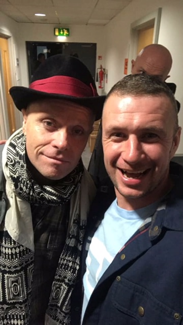 DJ RYZ and the indomitable Keith Flint of The Prodigy.