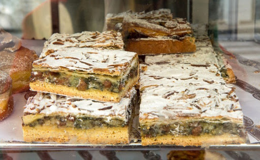 Tarte aux Blettes : a sweet tart made with chard leaves and raisins.