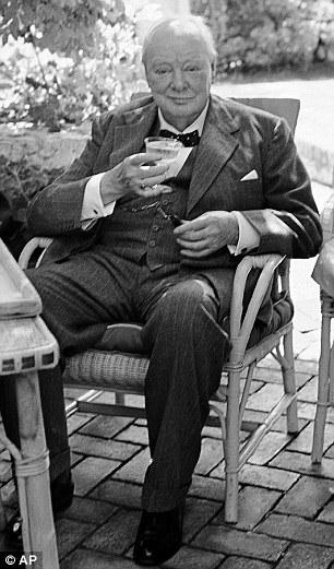 Churchill enjoyed a cocktail