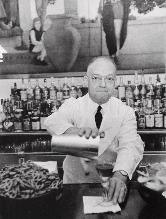 "Fernand ""Pete"" Petiot, barman."