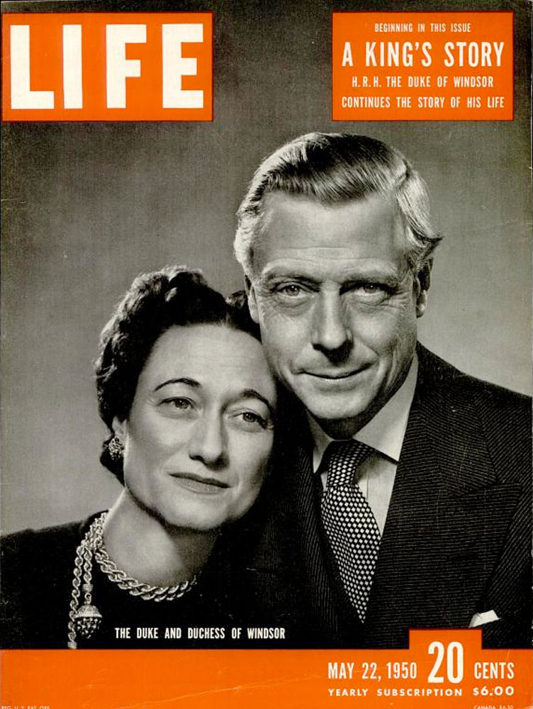 The Duke & Duchess of Windsor during their exile in Paris