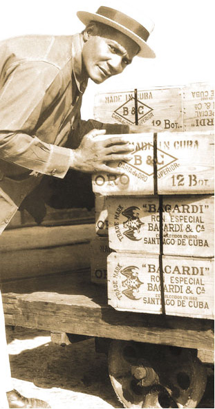 Loading Bacardi in the good old days.